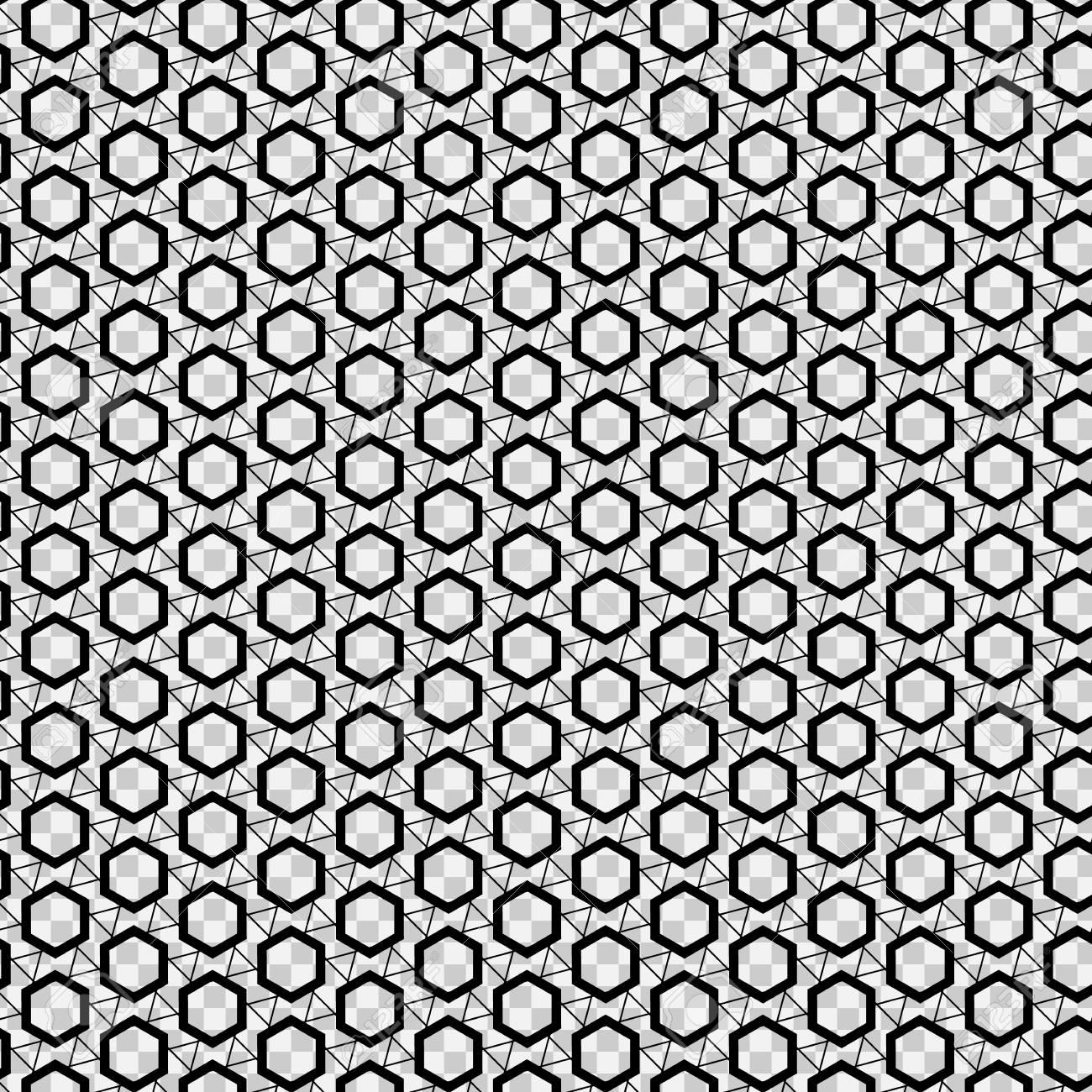 Textura Inconsútil Del Hexágono En El Fondo Transparente. Vector ...