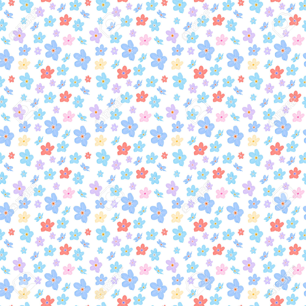 Vector Floral De Patrones Sin Fisuras. Ilustración De Pequeñas ...
