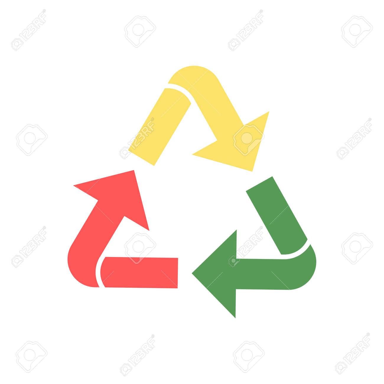 Icono De Reciclaje Coloreado. Reutilizar Ilustración De Símbolo ...