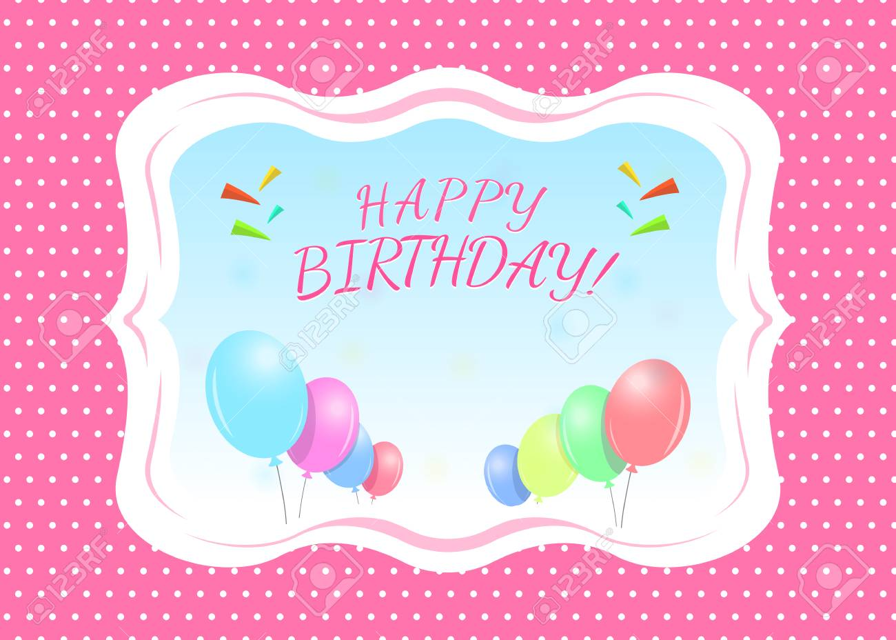 Outstanding Happy Birthday Greeting Card Template With A Place For Name Personalised Birthday Cards Akebfashionlily Jamesorg