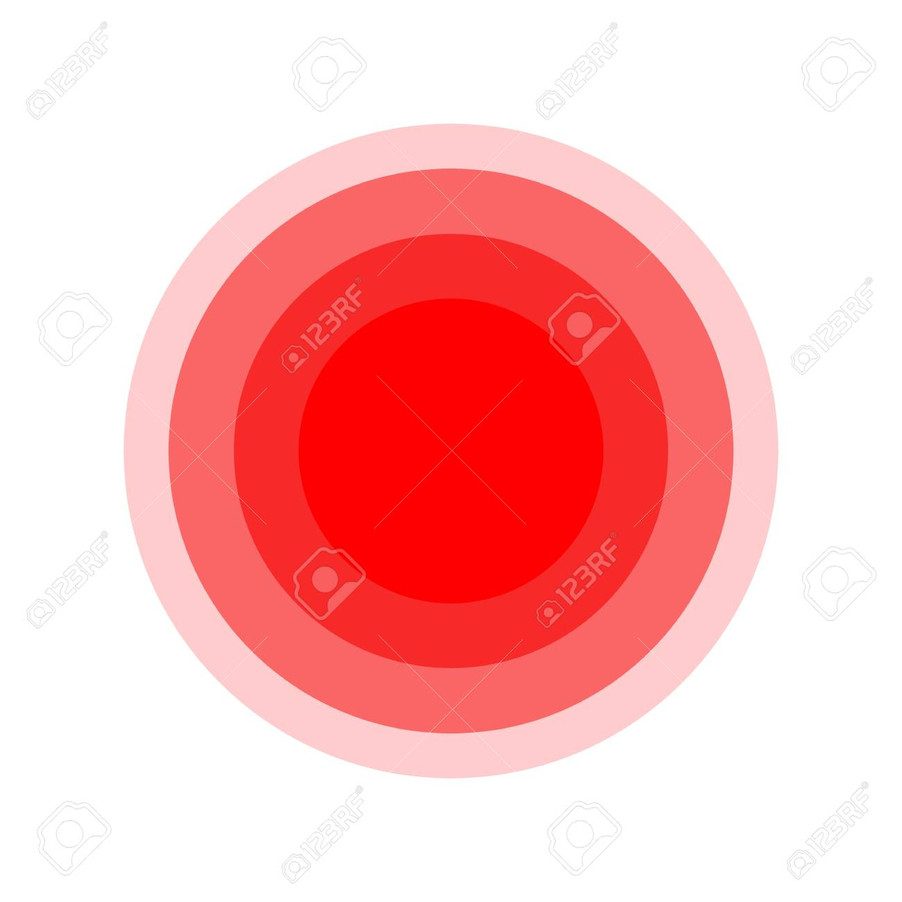 Pain Symbol Circle Red Medical Ring Icon Royalty Free Cliparts