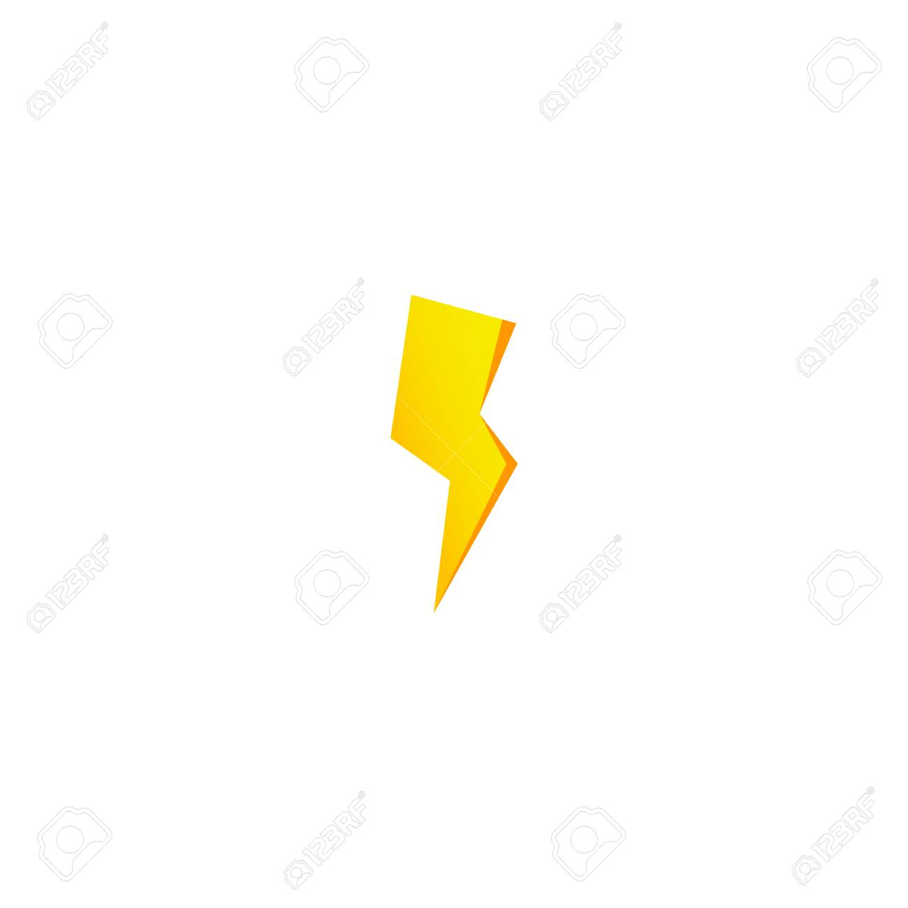 Simple Yellow Thunderbolt Icon Thunder Bolt And High Voltage Royalty Free Cliparts Vectors And Stock Illustration Image 114439743