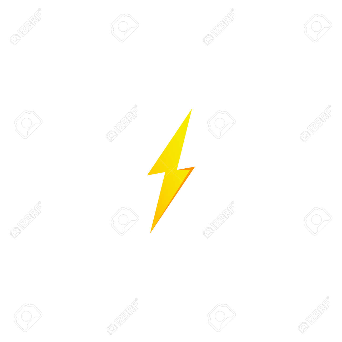 Simple Yellow Thunderbolt Icon Thunder Bolt And High Voltage Royalty Free Cliparts Vectors And Stock Illustration Image 114439750