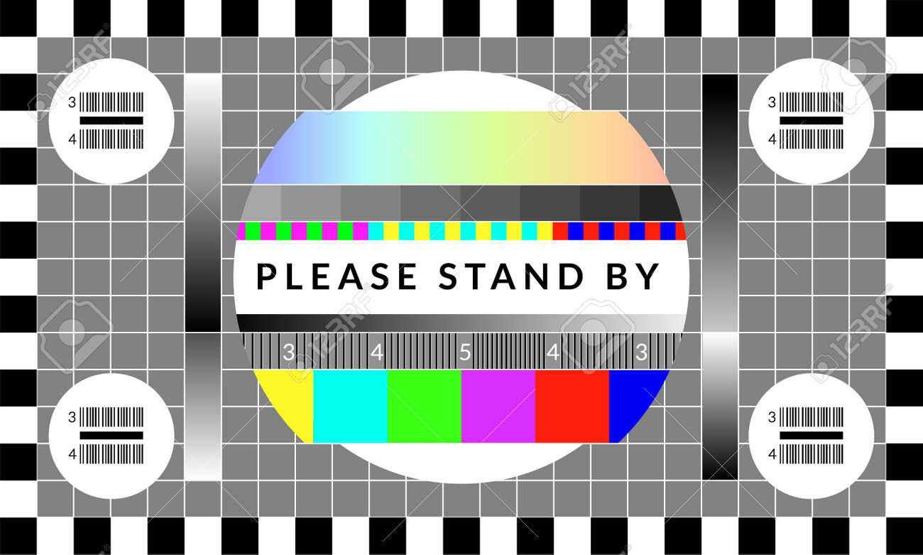 Retro tv test screen. Old calibration chip chart pattern - 126049684