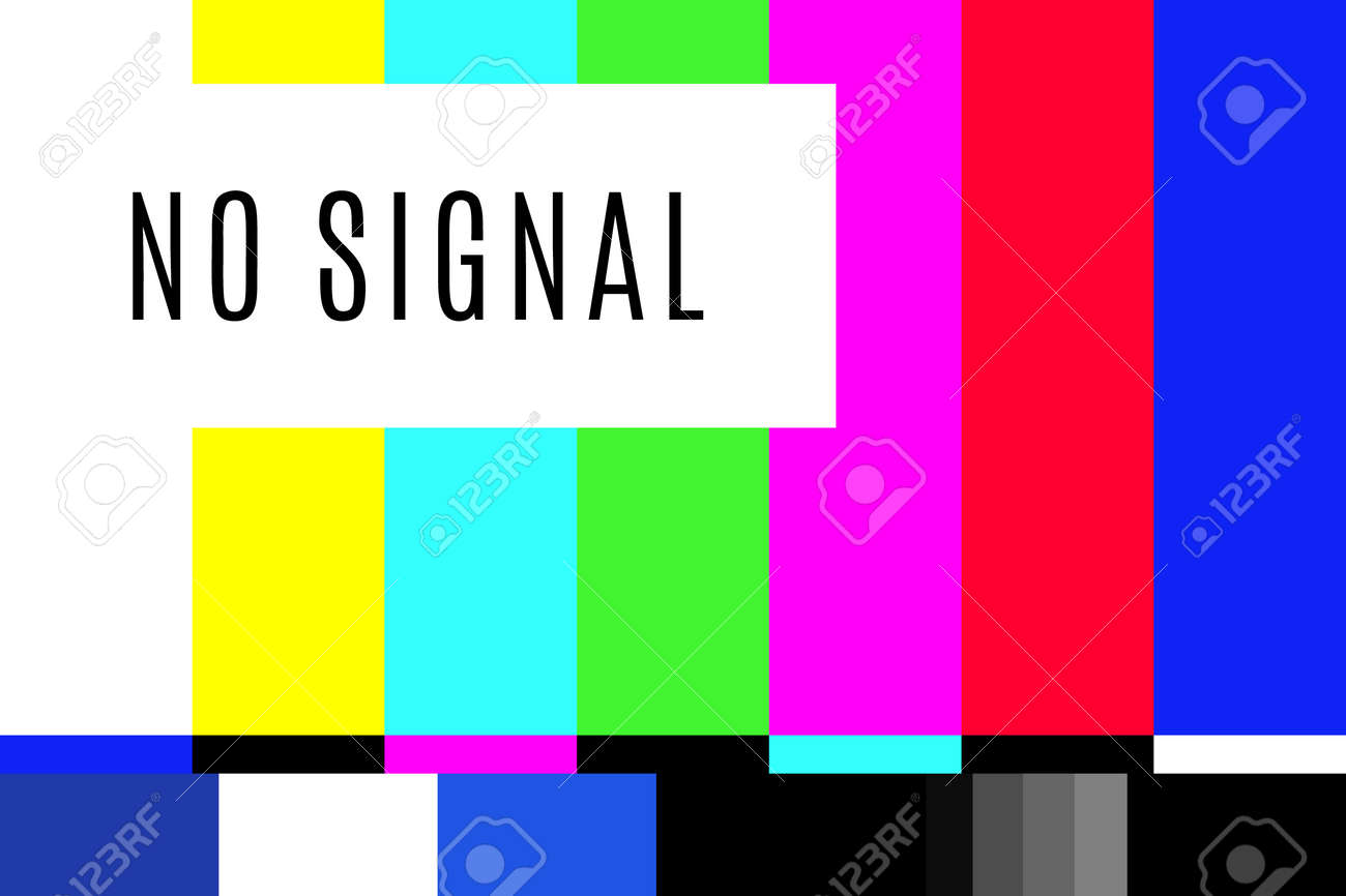 Retro No Signal Tv Test Screen Pattern Chart Royalty Free Cliparts Vectors And Stock Illustration Image 120702069