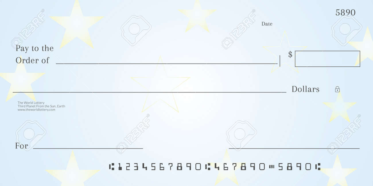Blank Lotto Ticket Template Empy Lottery Check