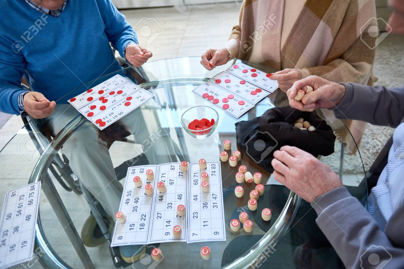Unrecognizable Senior People Playing Lotto - 98797885