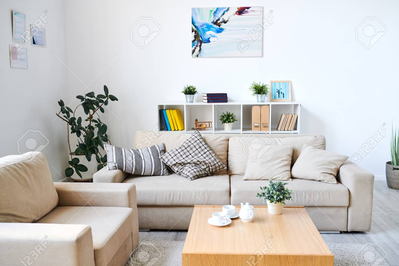 Modern Interior Of Living Room Stock Photo Picture And Royalty Free Image Image 113114274