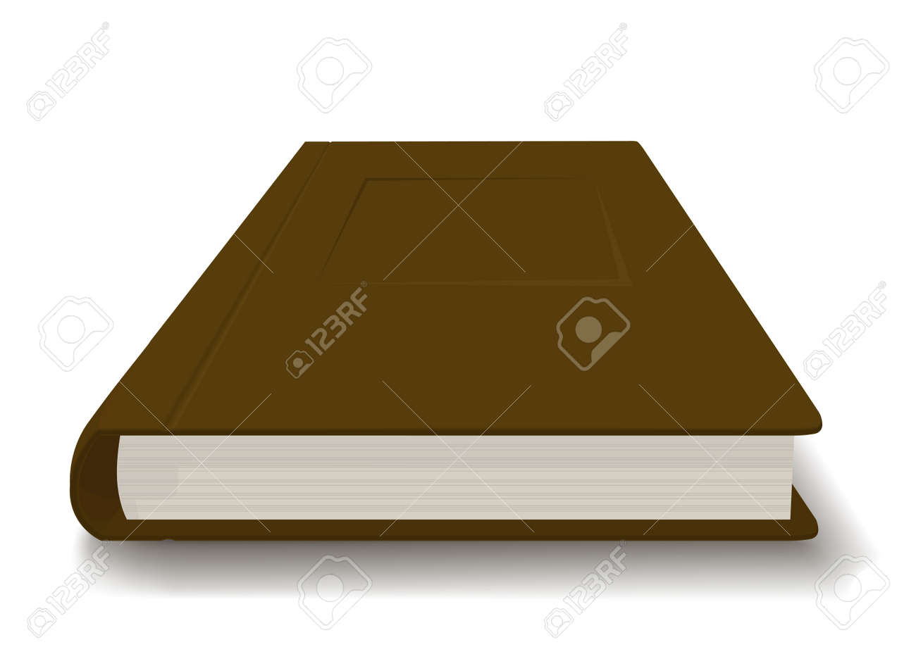 thick book in a brown cover royalty free cliparts vectors and
