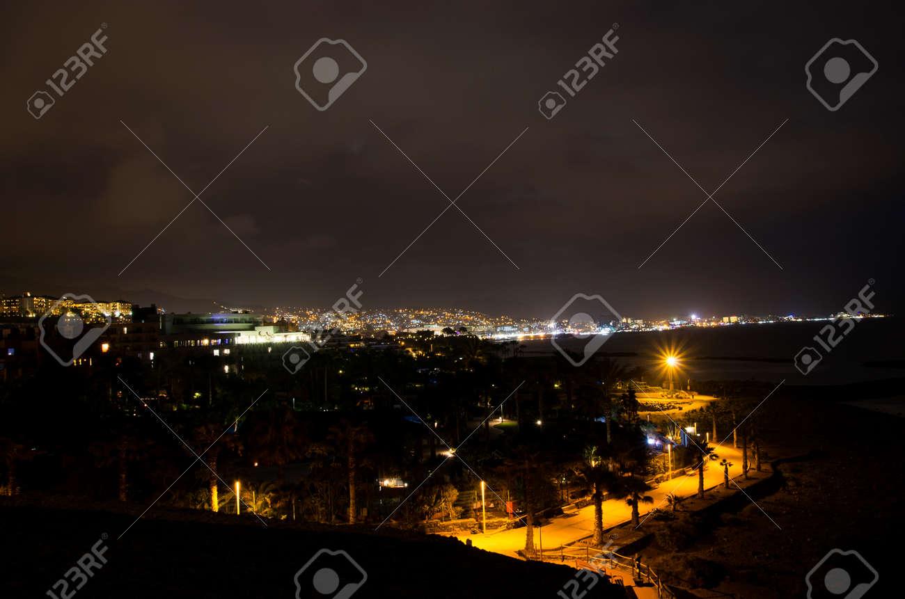 Night landscape of the coast of Tenerife - 132363822
