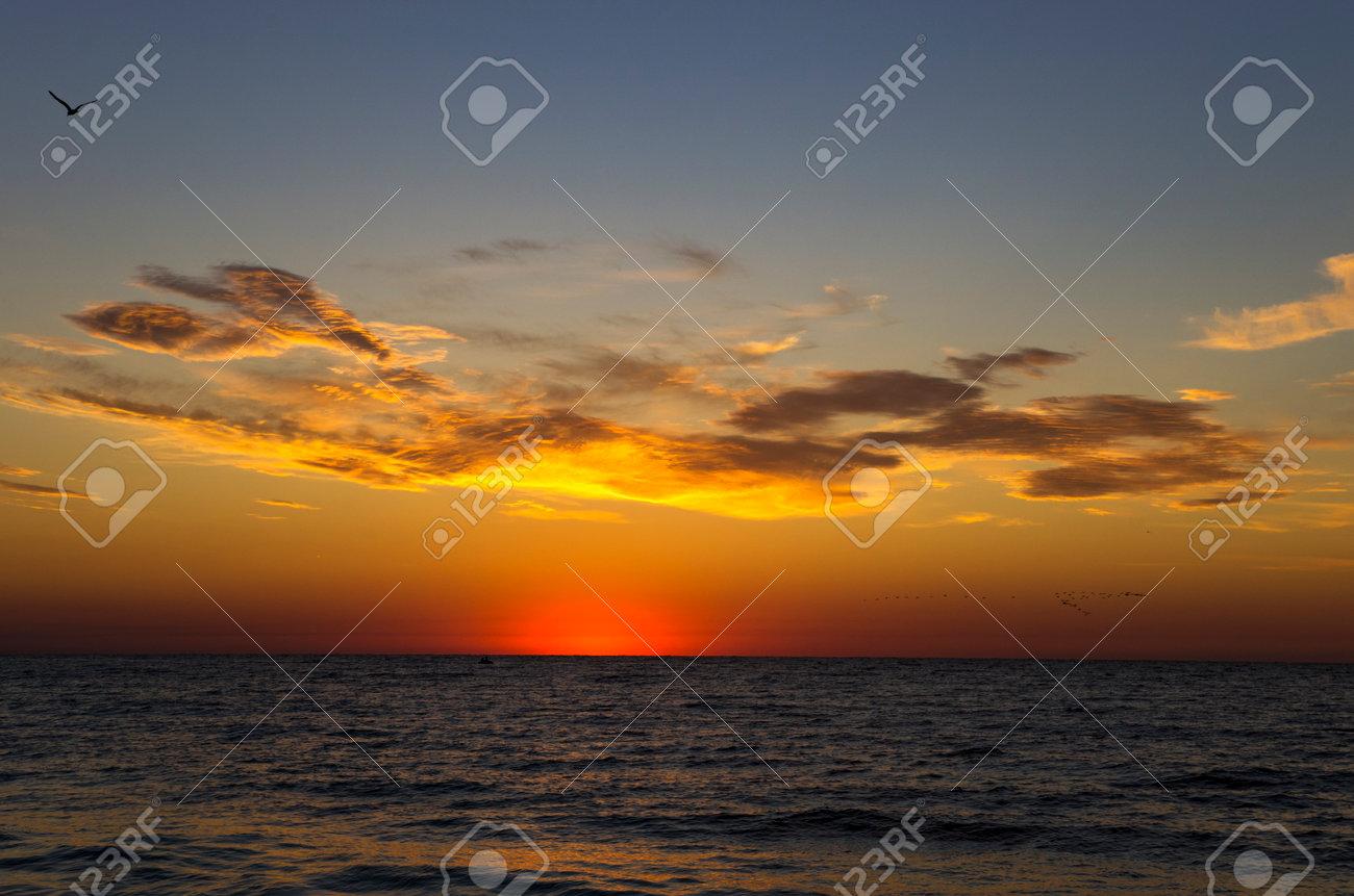 Colorful sunrise over the sea, landscape - 160275351