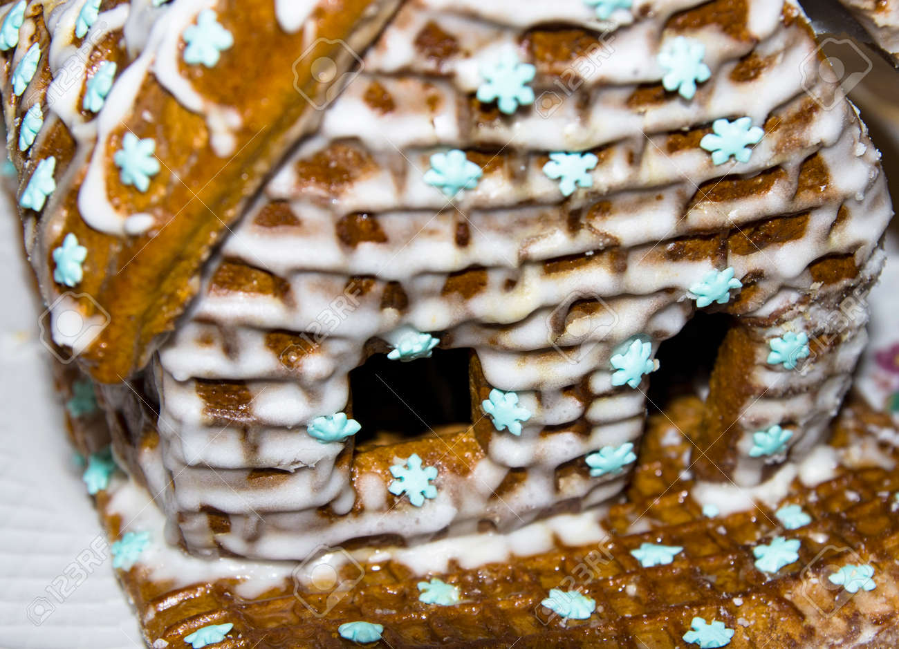 House of cookies in sugar glaze large - 163257570