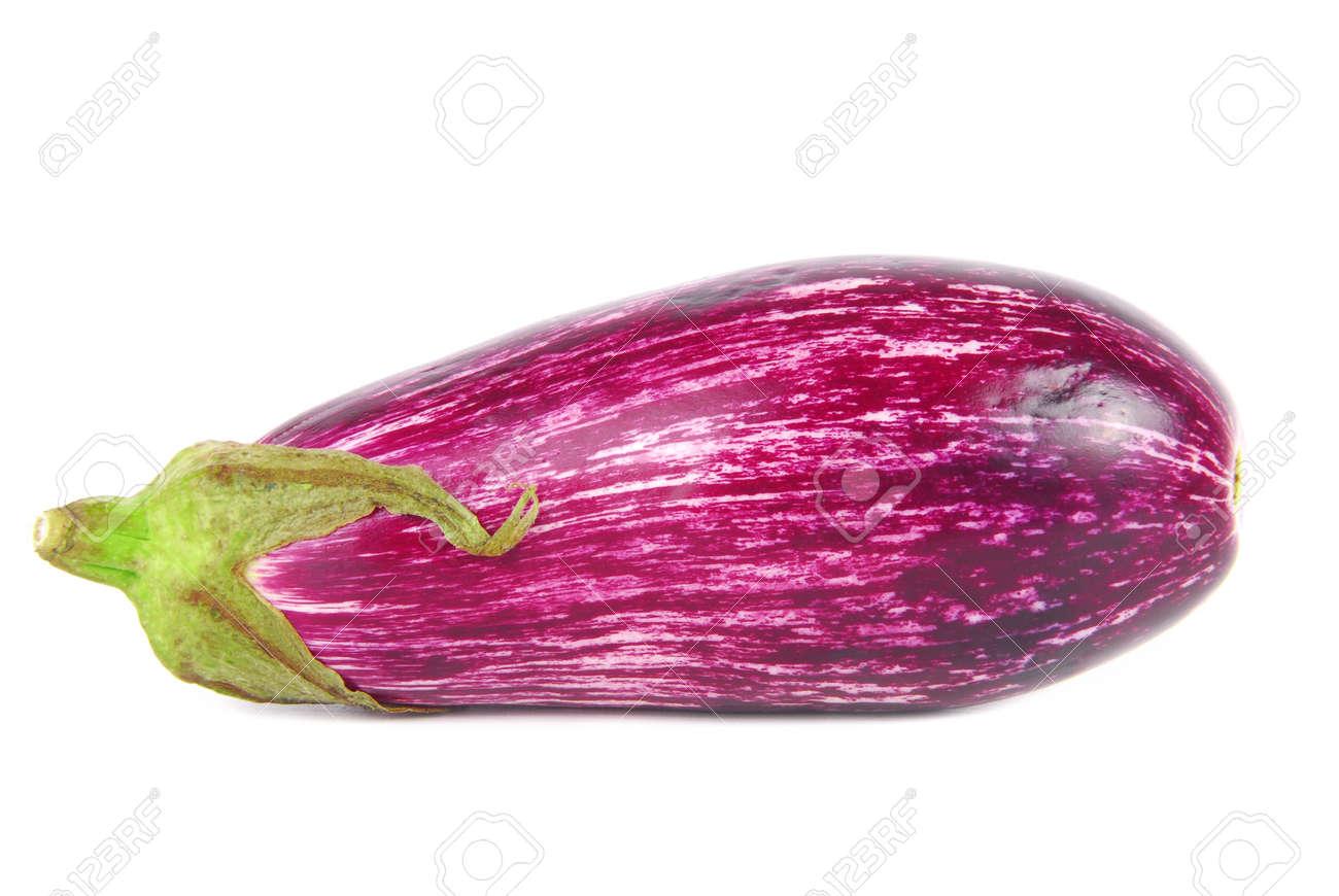 Graffiti eggplant aubergine striped isolated on white stock photo 24197307