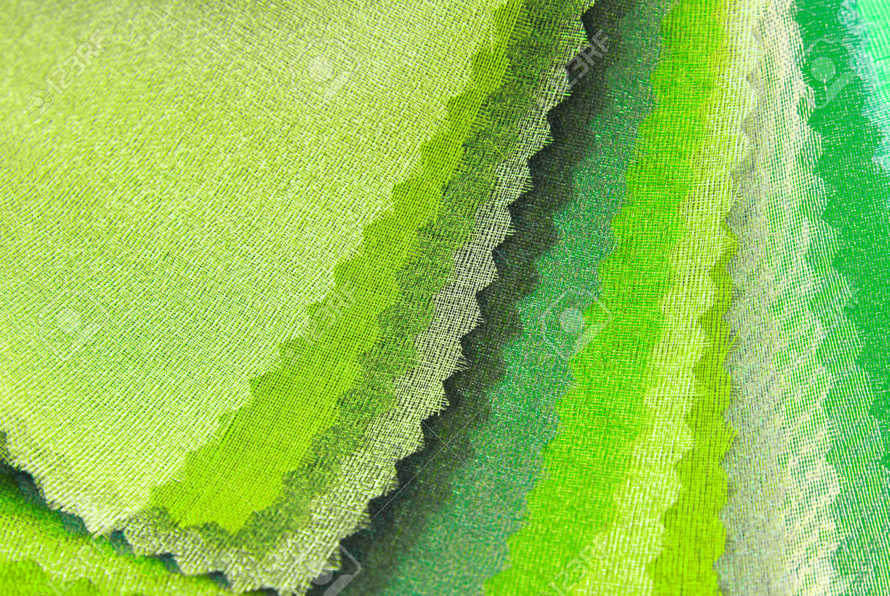 lime green organza color selection