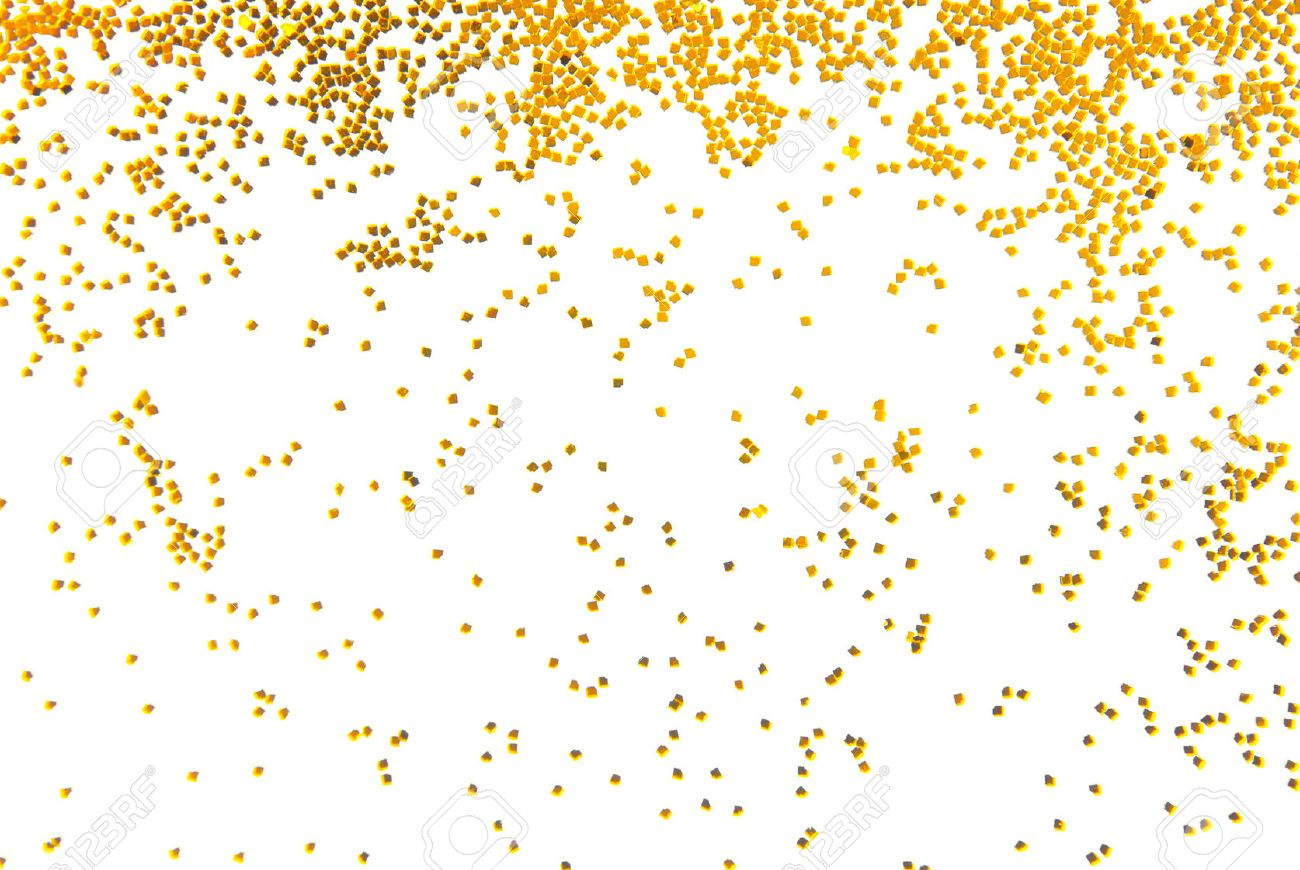 Gold glitter bright vector transparent background golden sparkles - Gold Glitter Golden Glitter Falling Isolated On White Stock Photo