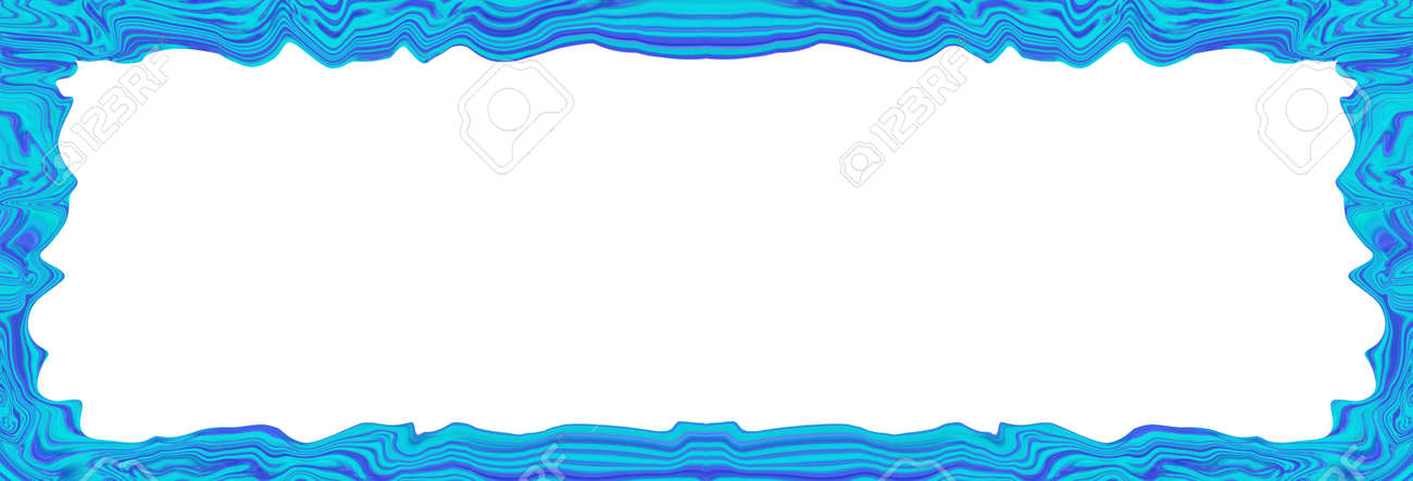 Blue Abstract Blurry Smooth Border Frame