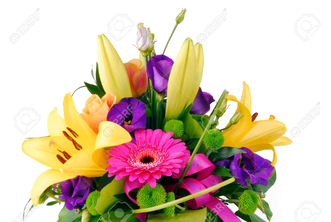 Bouquet of flowers happy birthday stock photo picture and royalty bouquet of flowers happy birthday stock photo 88764687 izmirmasajfo