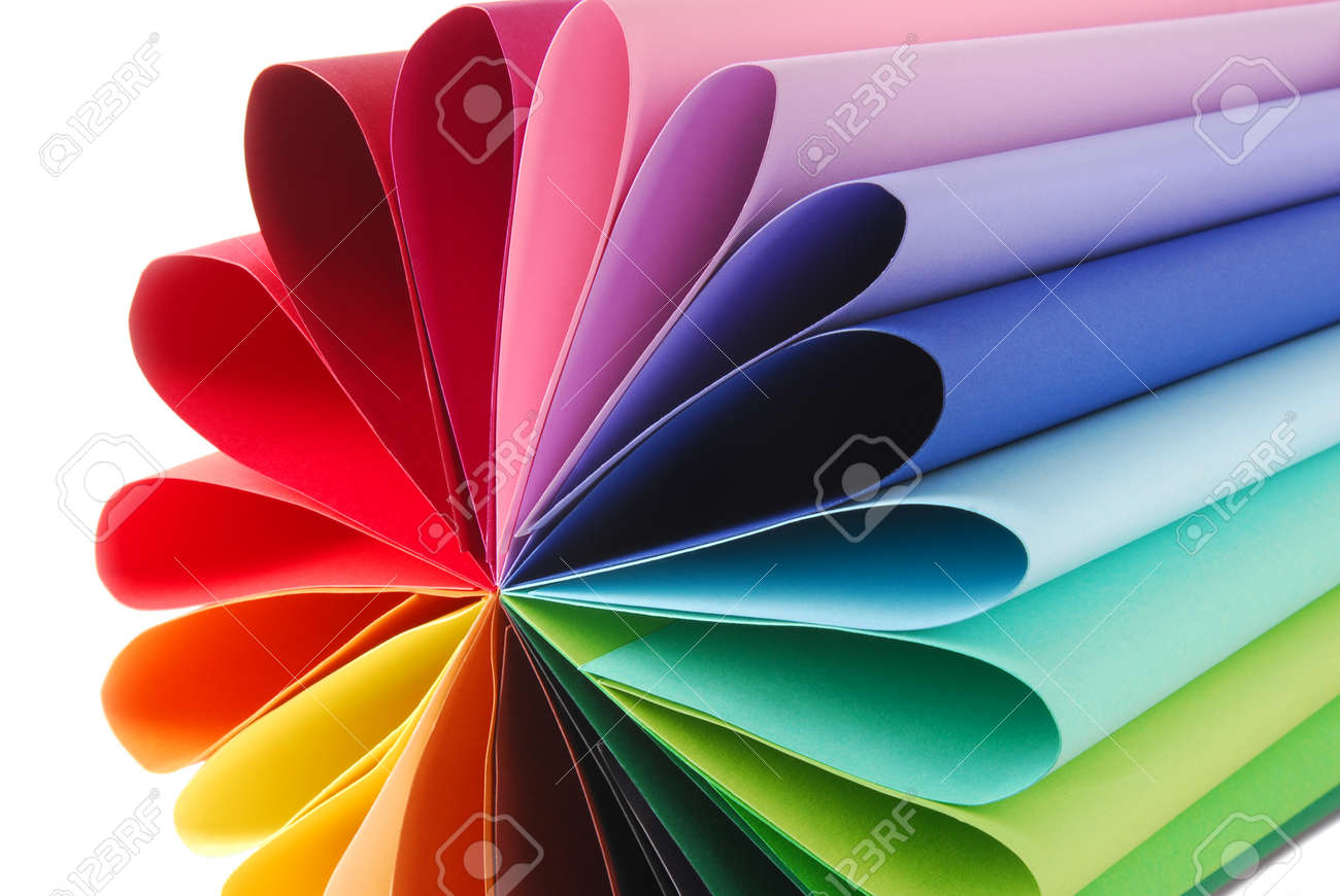 color colorful paper texture folded - 90538521