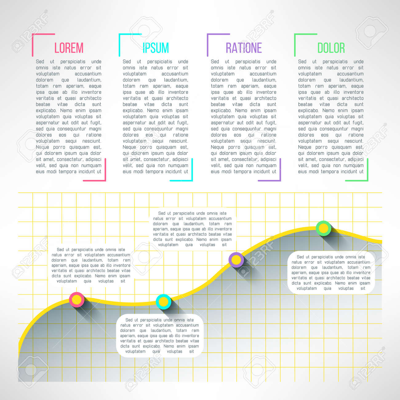 Vector of graph infographic template chart and diagram presentation vector of graph infographic template chart and diagram presentation or web page elements stock ccuart Choice Image