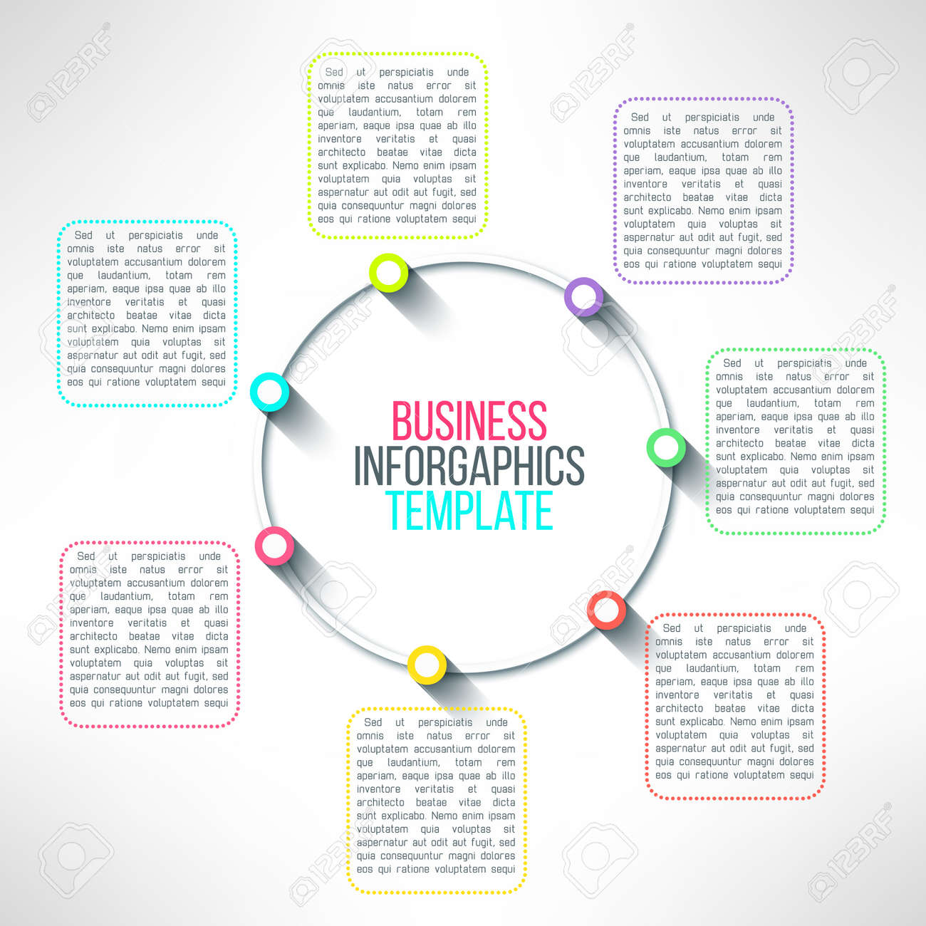 vector circle process infographics template colorful options