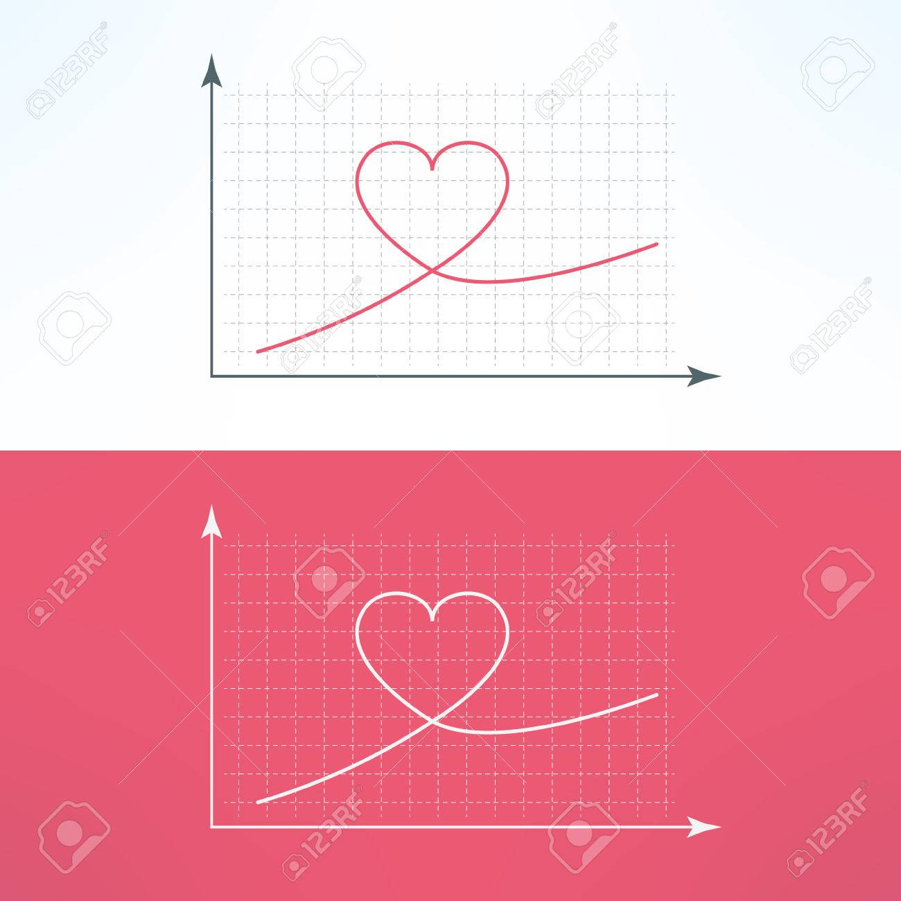 Vector graphic chart with heart icon loving and liking raise vector vector graphic chart with heart icon loving and liking raise diagram graph ccuart Gallery