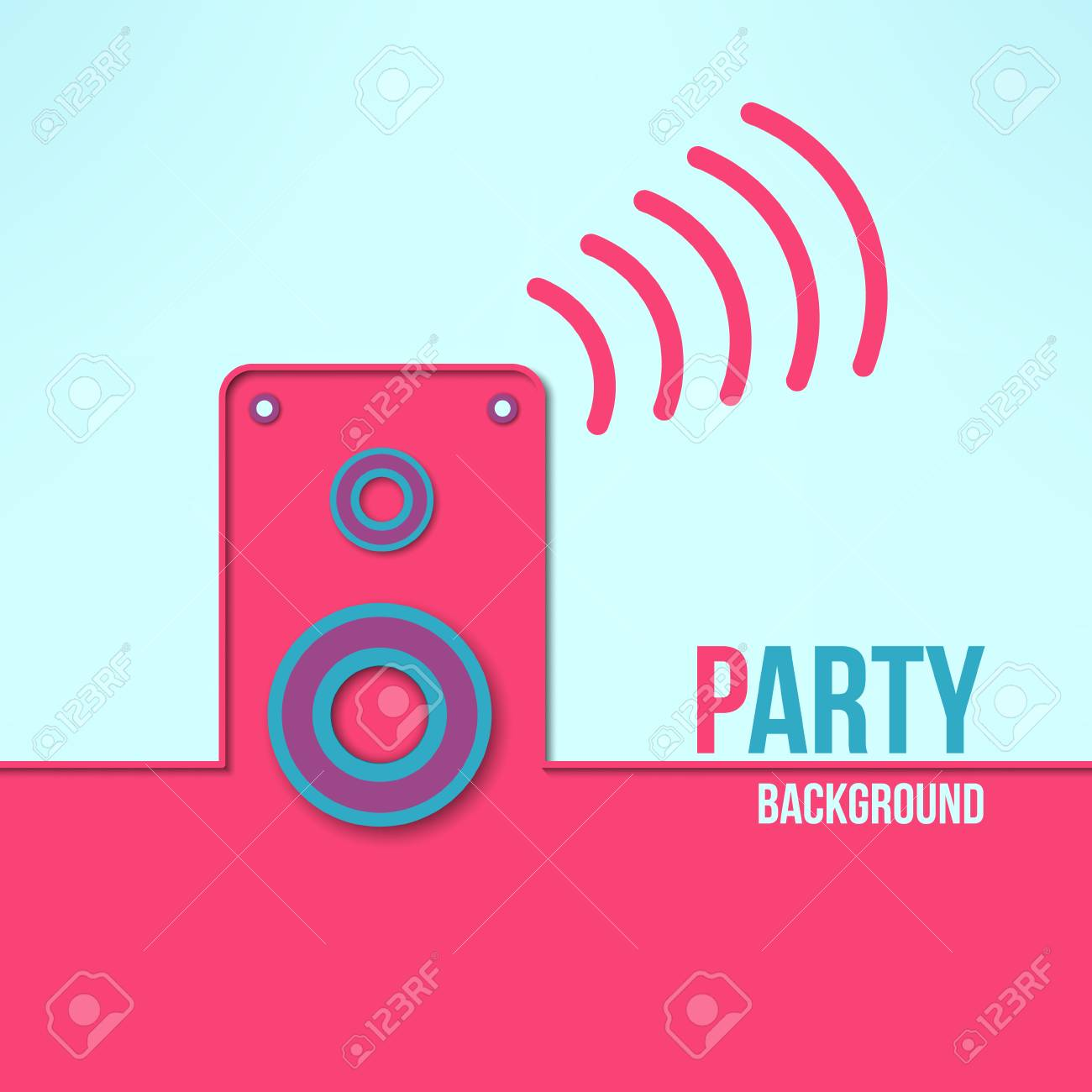 vector home party background in modern flat design clean and