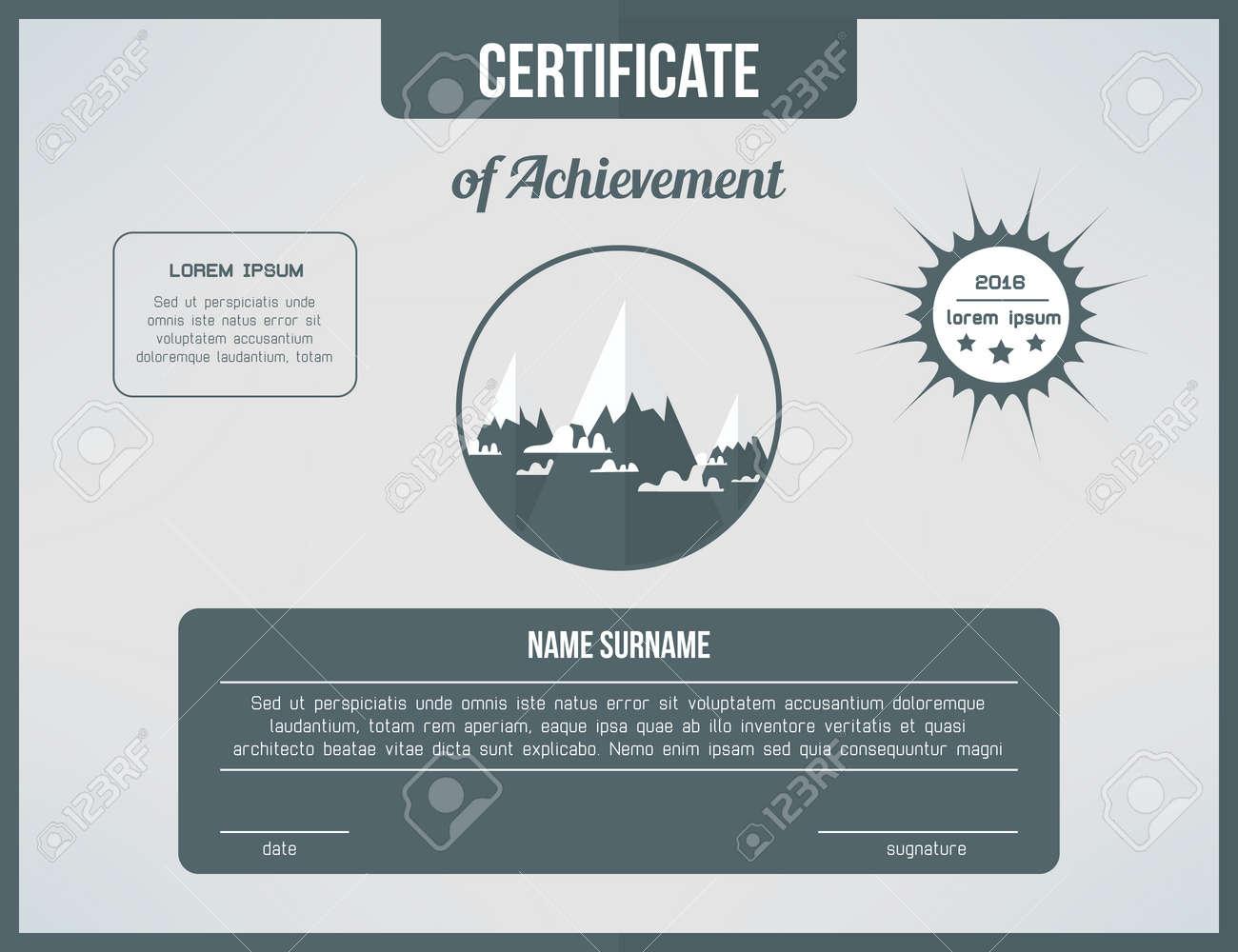 Zertifikatvorlage Für Die Leistung. Grau Zertifikat Design Mit ...