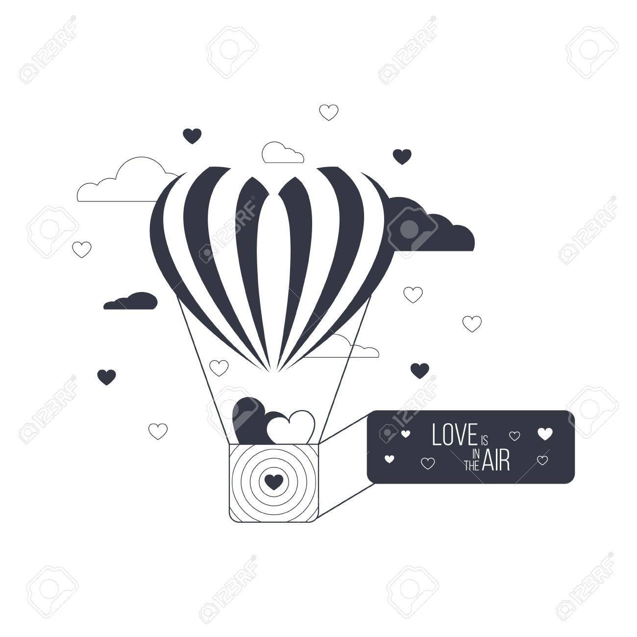 Liebe Liegt In Der Luft Konzept. Herz-Luftballon Der Liebe. Rote ...