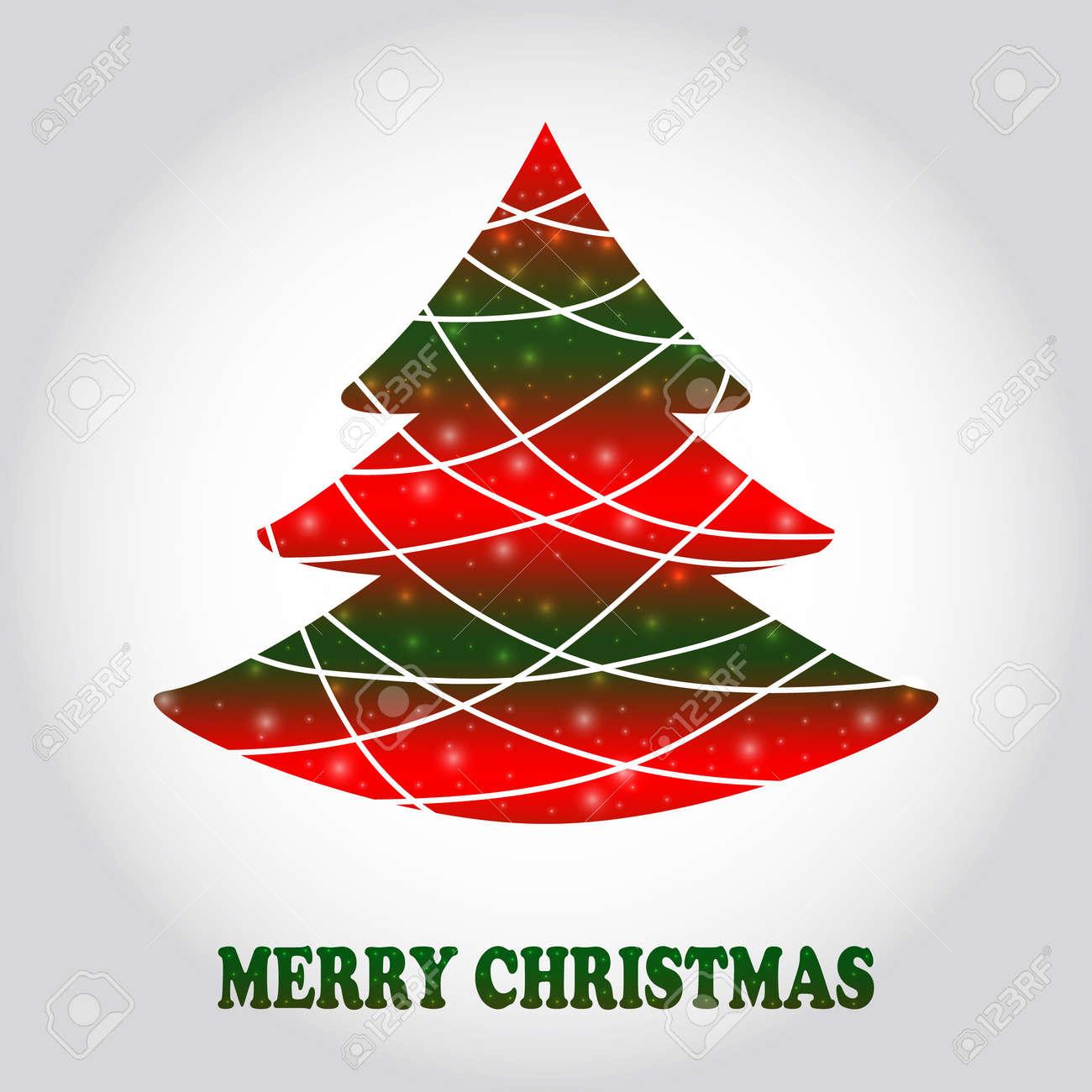 Ideas De Dibujos De Navidad.Vector Resumen Arbol De Navidad Las Ideas Dibujos Diseno Plantillas Ilustracion Del Vector Tarjeta Creativa Del Arbol De Navidad