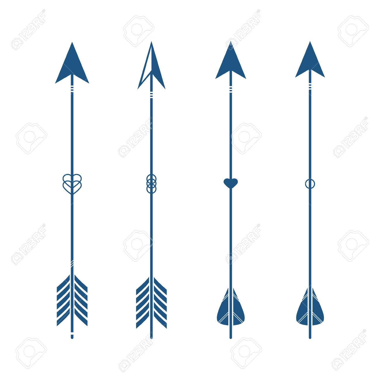 collection of decorative tribal arrows hipster arrows indian