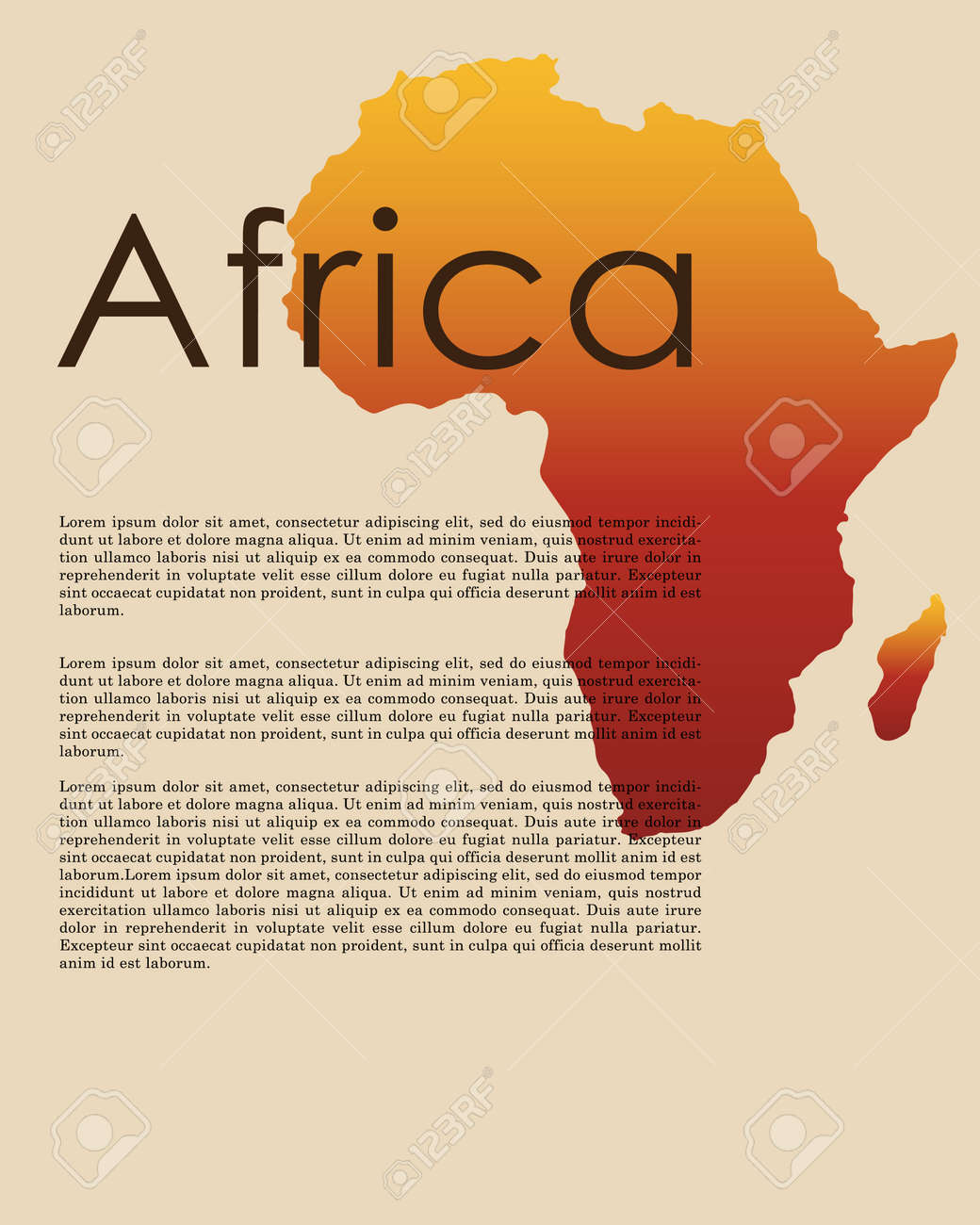 Vector Africa Map Abstract Map Of Africa In Vector Format African