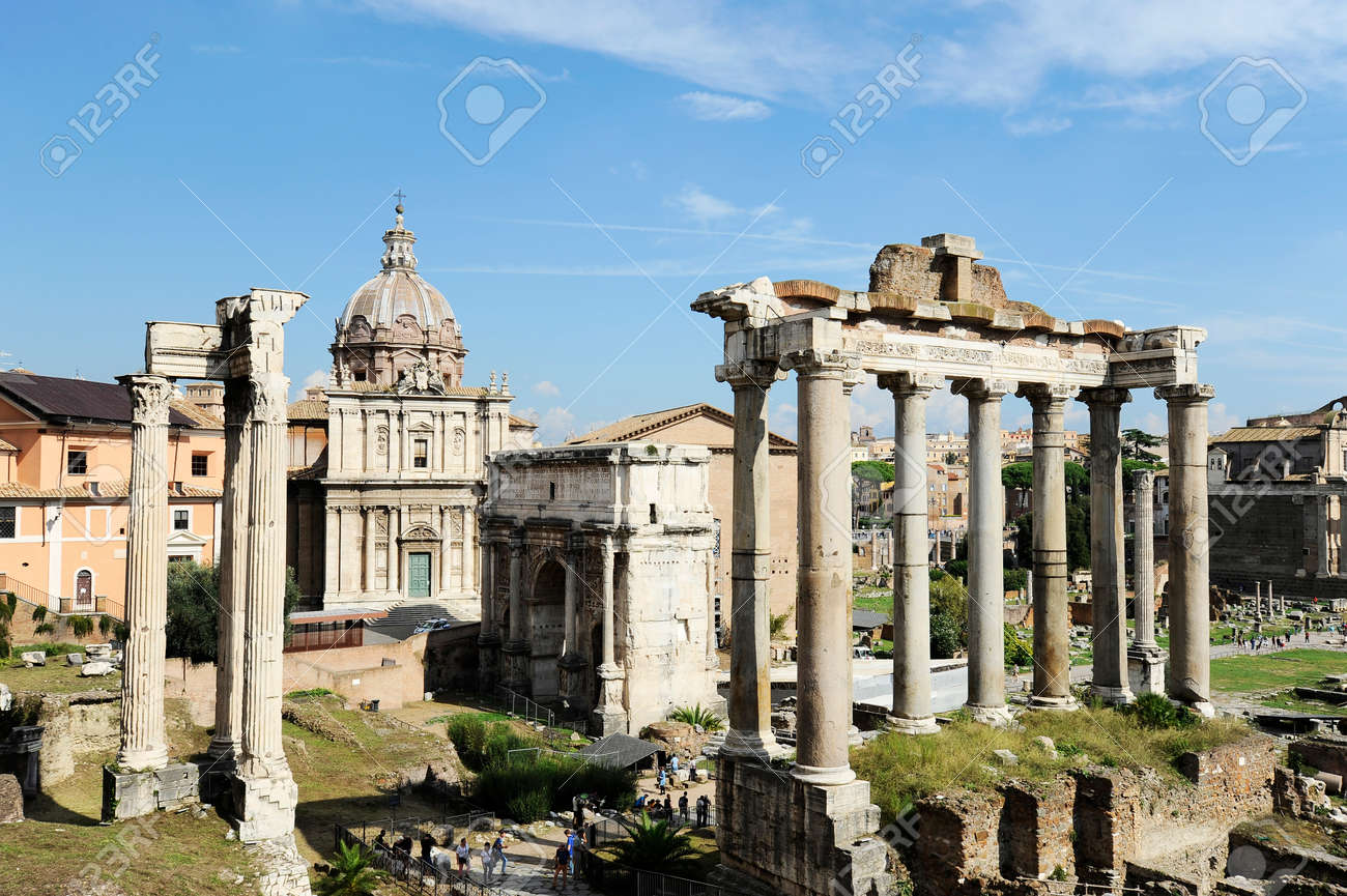 roman forum in rome, italy, it is one of the main tourist