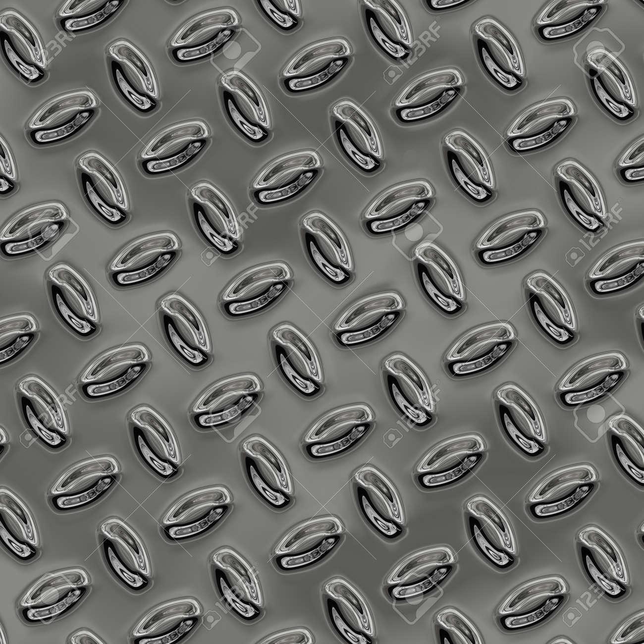 a large sheet of nice shiny chrome tread plate Stock Photo - 20598815