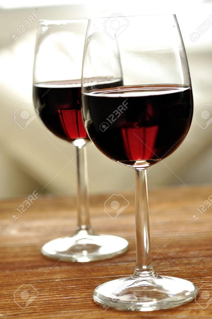 Glass of fine italian red wine, selective focus Stock Photo - 16675091