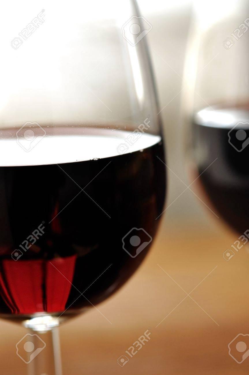 Glass of fine italian red wine, selective focus Stock Photo - 16675090