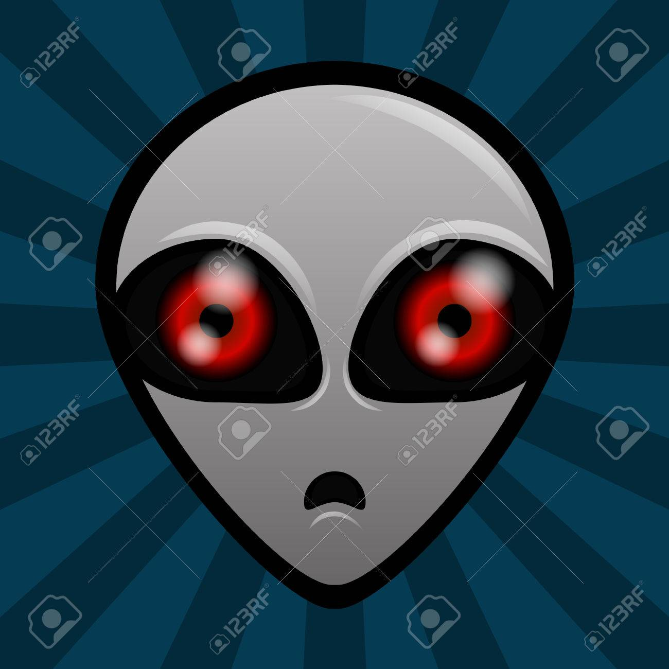 extraterrestre yeux rouge