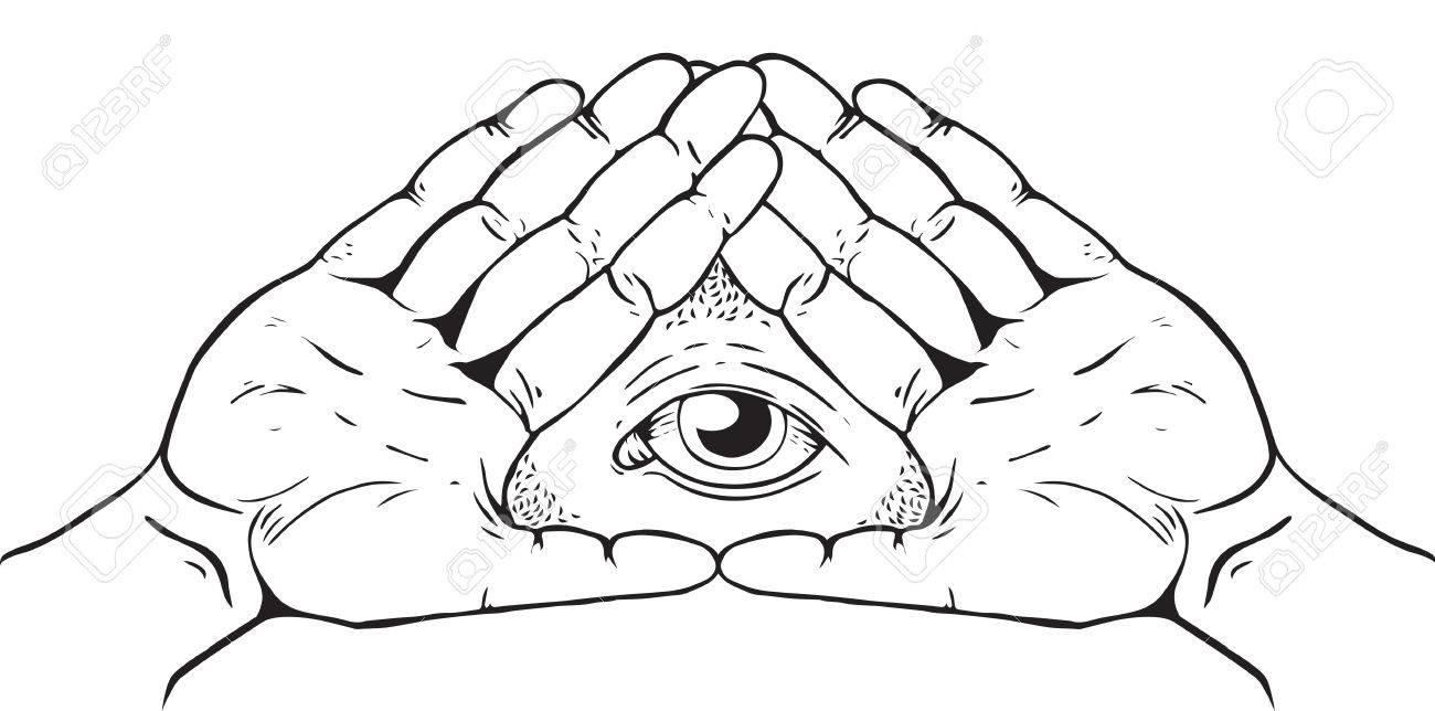 Illuminati, Magic and Occult Sign - 77408914