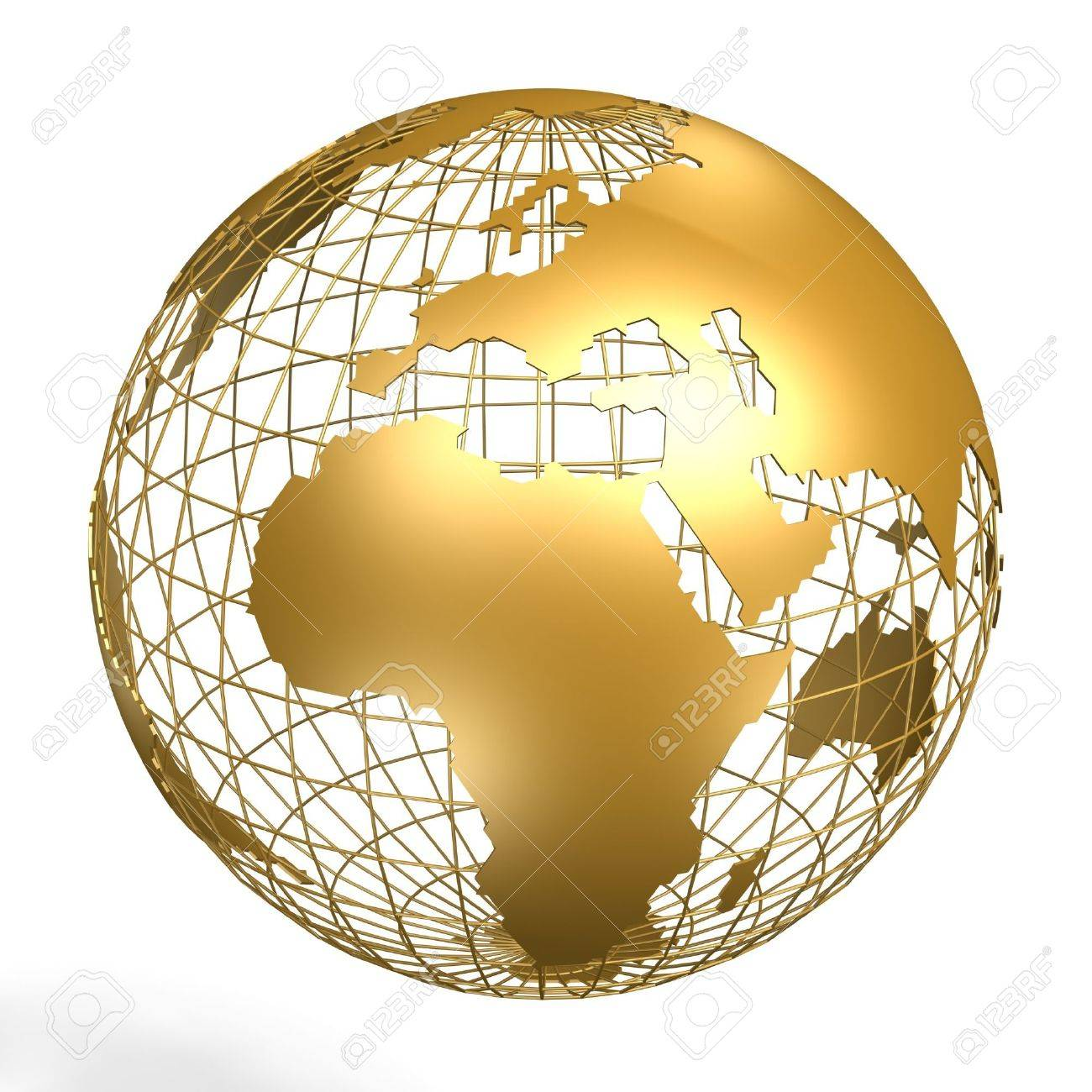 golden globe of africa and europe on frame Stock Photo - 639107