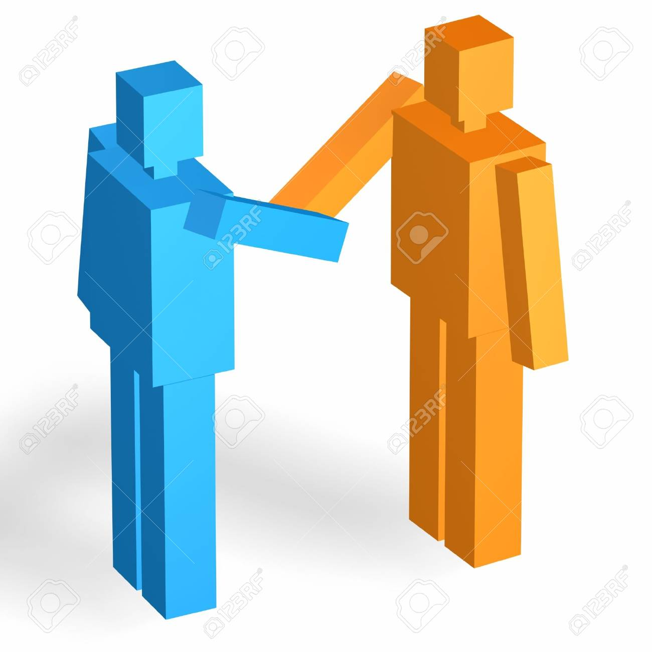 two men shaking hands for businesss corporation Stock Photo - 728850