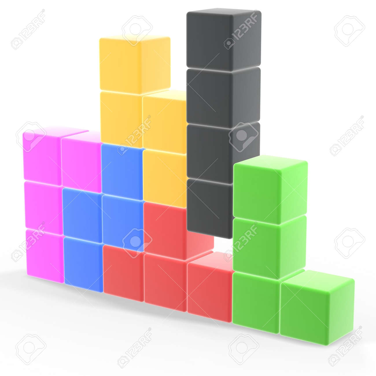 classic tetris game pieces fit together