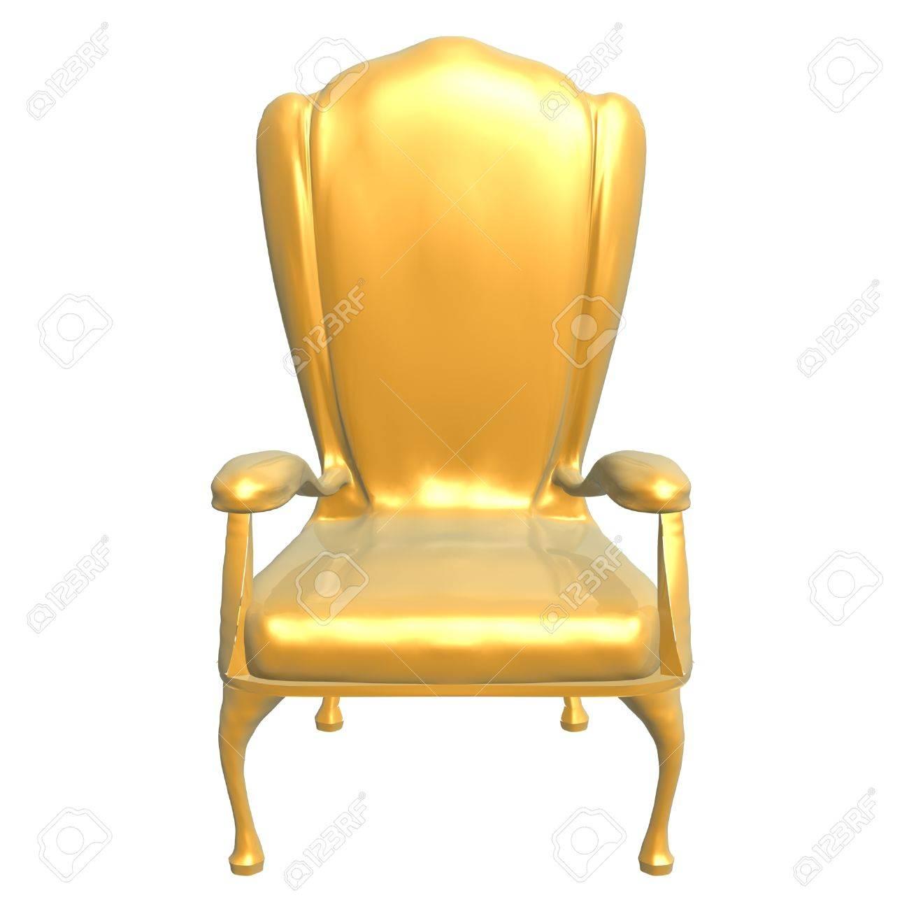 Chaise Dor Du Roi Isol Sur Fond Blanc Banque DImages Et Photos