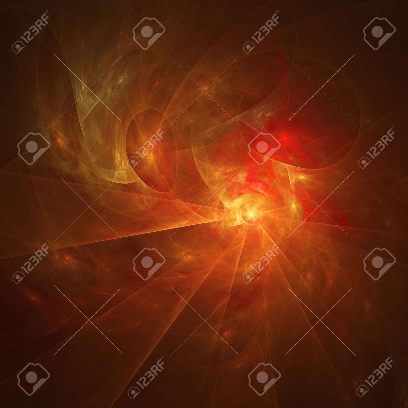 abstract chaos fire burn rays on dark background Stock Photo - 2470228