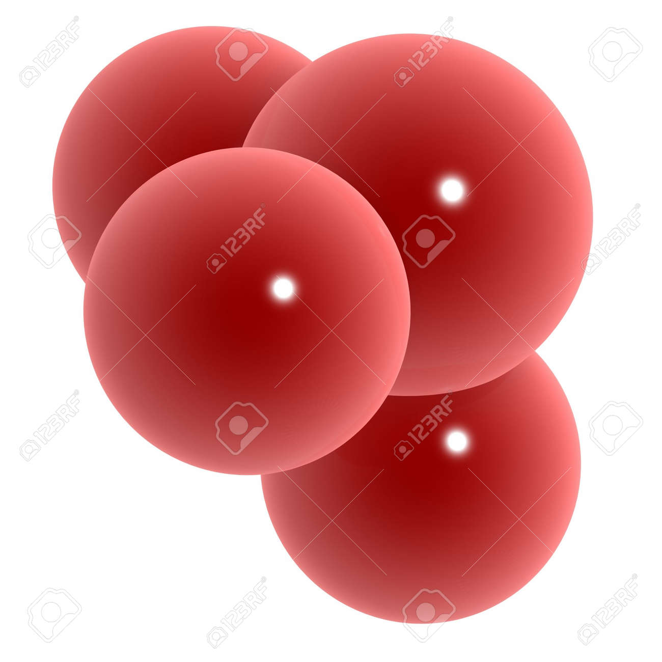 3d red cells isolated on white background Stock Photo - 2819083