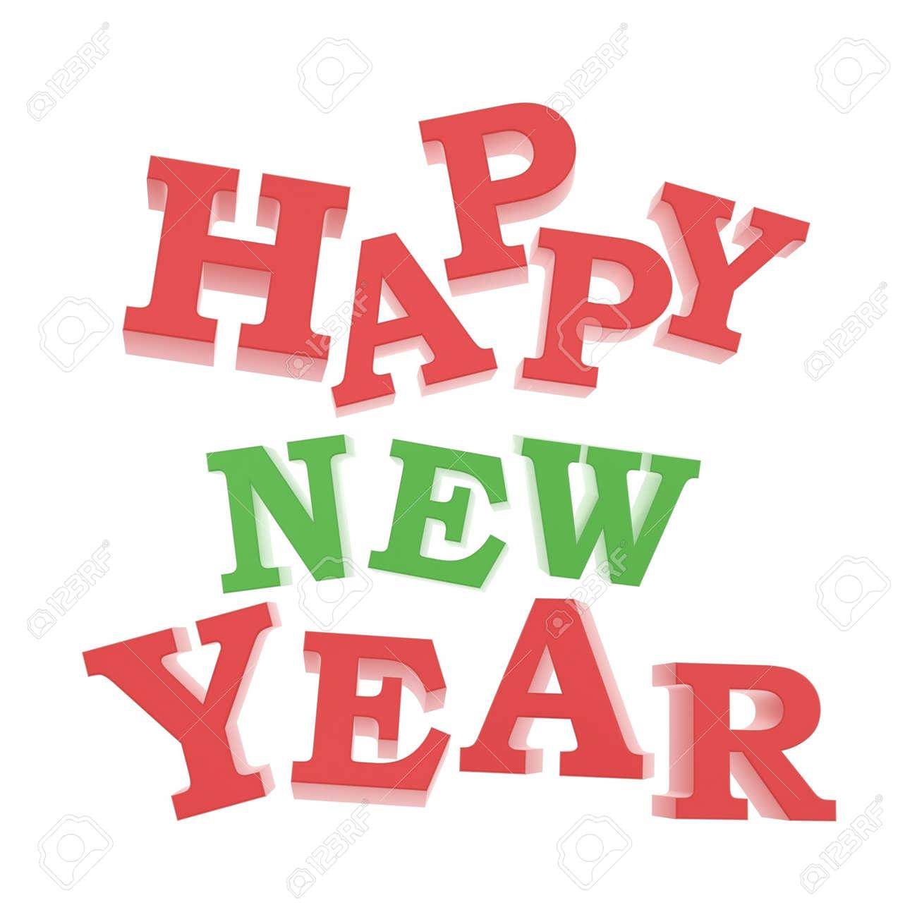 Guten Rutsch Ins Neue Jahr Gruß Logo Isoliert Auf Weißem Hintergrund ...