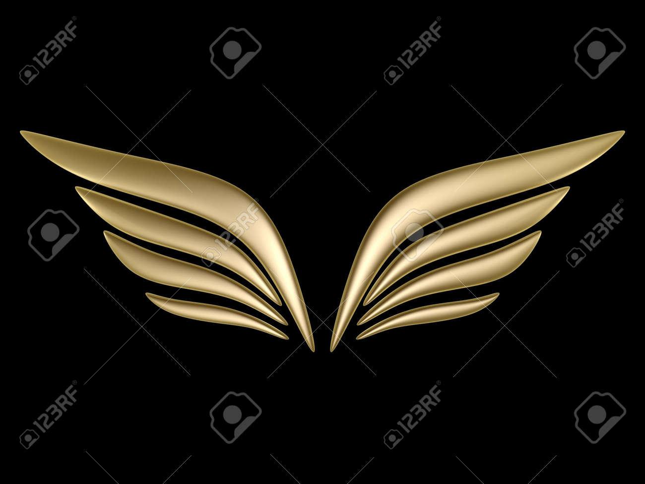 3d bird wing symbol isolated on black background stock photo 3d bird wing symbol isolated on black background stock photo 4764833 biocorpaavc