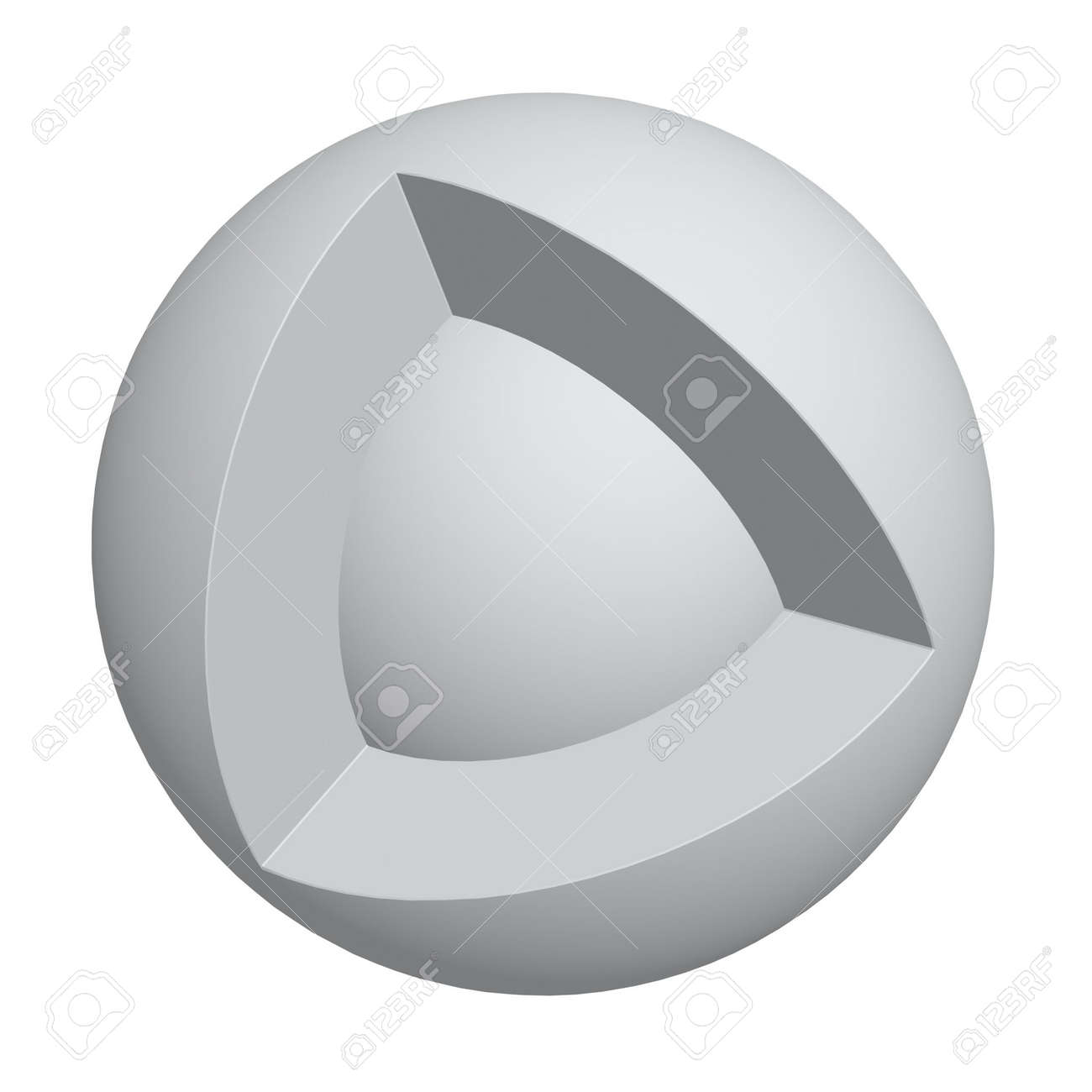 core of sphere isolated on white background Stock Photo - 4840995