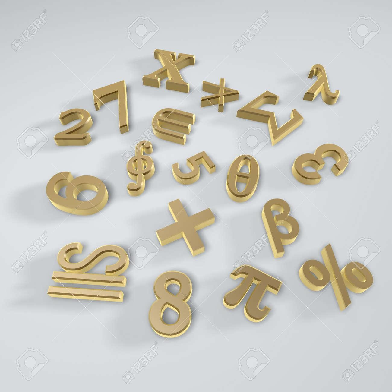 Math Operator Symbols Isolated On White Background Stock Photo