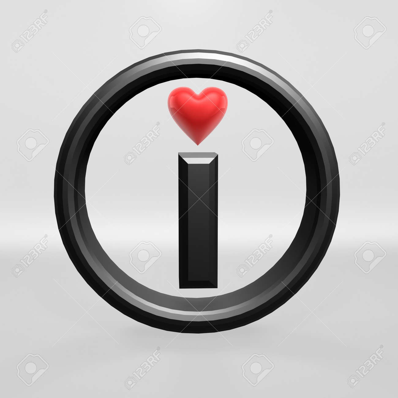I love red heart on white background Stock Photo - 7253790