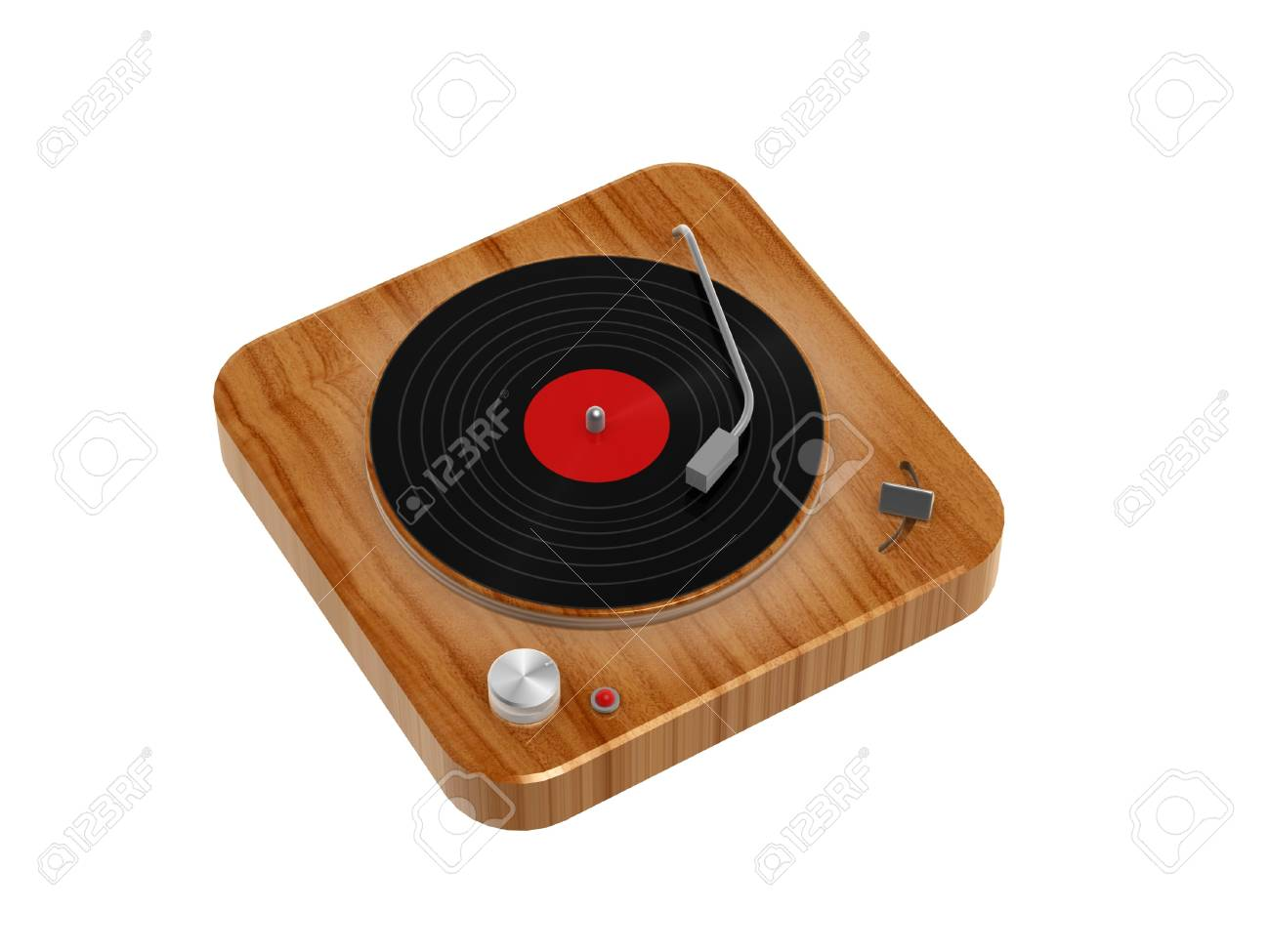 3d wooden Phonograph isolated on white background Stock Photo - 14019511