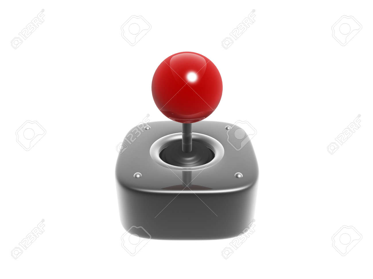 simple joystick game controller isolated on white background Stock Photo - 14186256